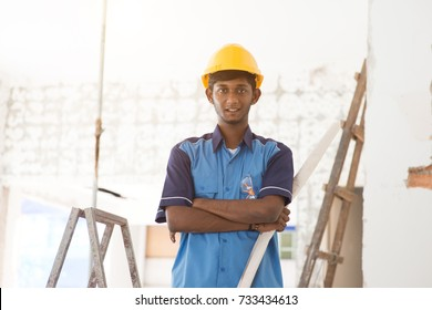 indian male construction worker