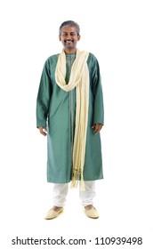 indian male in dhoti dress, full body