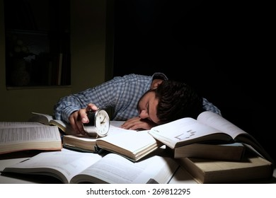 Indian male student in anxiety due to exams.