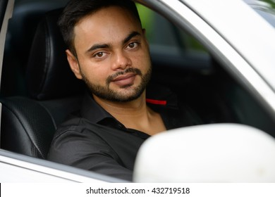 Indian man car