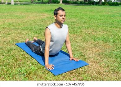 Indian Man Doing Yoga Images Stock Photos Vectors Shutterstock