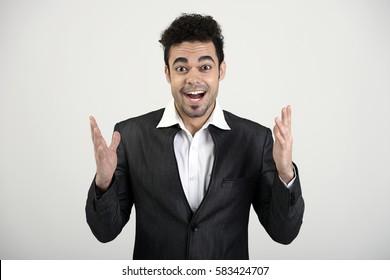 Indian man excitedly explaining