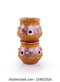 Indian man made pots