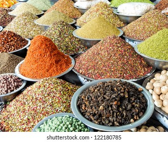 Indian Marketstall selling ingredients