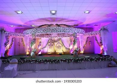 Indian Marriage Halls Hindu wedding stage decoration