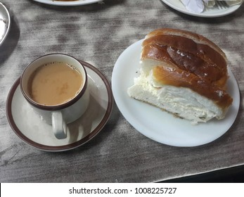 Indian Masala Chai with Bun Maska Bread