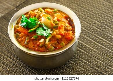 Indian Matar Paneer Ki Sabji, Cheese Cottage & Green Peas