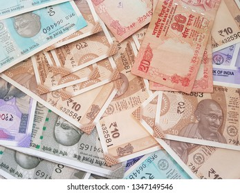 Indian money and banknotes rupees, money are from the major world countries using as Forex or financial economy.