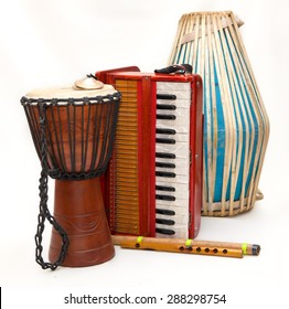 Indian musical instruments for Harinam
