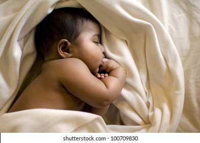 indian muslim baby sleeping
