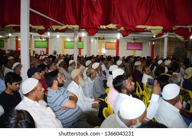 Indian Muslim social activist politician  Yasmeen Arora Munshi attending public meeting in Mumbra Thane Maharashtra India 10/3/2019