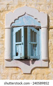 Indian old window with blinds