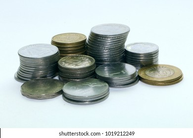 Indian one, two, five and ten rupee coins