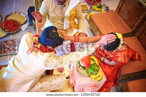 Indian Pakistani Bride Groom Puts Their Stock Photo (Edit