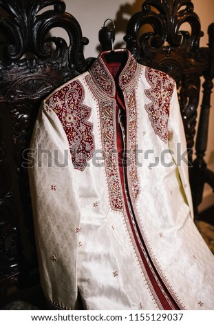 6b465a3ff6 Indian Pakistani Groom Silver Sherwani Red Stock Photo (Edit Now ...