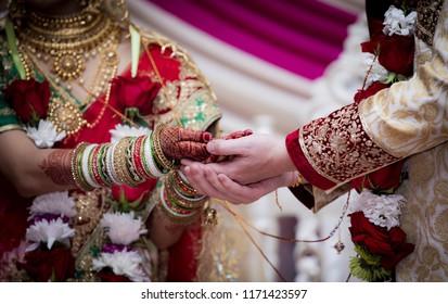 Indian Pakistani wedding bride and groom