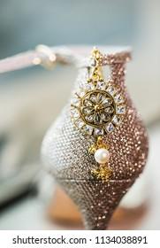 Indian Pakistani Wedding ladies Sandal and Jhumka jewelry