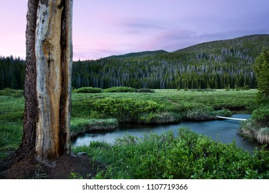 Indian Peaks Wilderness area, near Winter Park Colorado at sunset