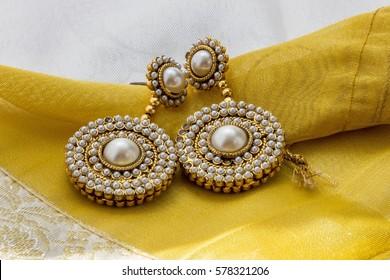 Indian pearl earrings