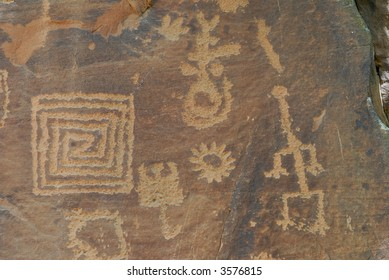 Indian Petroglyphs at Montezuma Castle