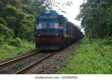 Indian Railway, Rail passing through rain forest of Gibbon Wildlife Sanctuary.