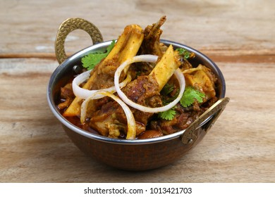 Indian or Rajasthani non veg food. Indian style meat dish or mutton curry.