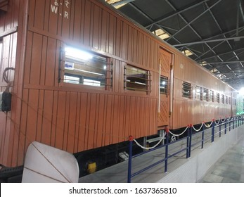 Indian rare old train engine and carriage displayed at Rail Museum, Howrah, Kolkata. Picture taken on 2/02/2020