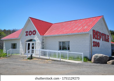 Indian River, Ontario, Canada - May 31, 2020: Building of Indian River Reptile Zoo.