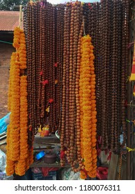 Indian Rudraksha beads for organic jewelry made from seeds of sacred tree. For yoga, meditation service.