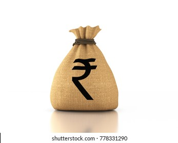 Indian Rupee Concept - 3D Rendered Image