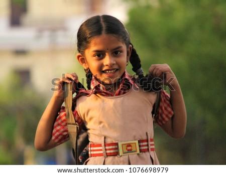 School girl fun Indian
