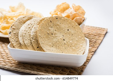 Indian snack deep fried papad