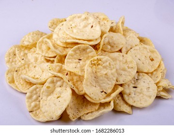 indian snack jeera papad or fryums or puff