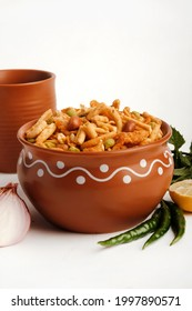 Indian Snacks, Bombay mix or namkeen, Chiwda or farsan is an Indian snack mix, popular tea-time food from India, delicious blend of sev, peanuts, peas and fried lentil.