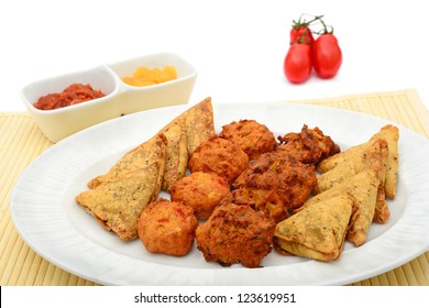 Indian snacks selection