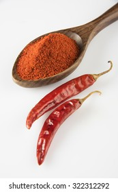 Indian spice Red chilli powder heap