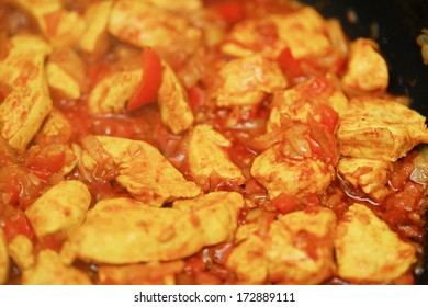Indian spicy chicken curry