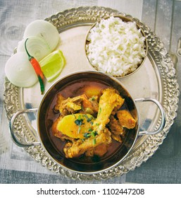Indian Spicy Chicken Curry with Rice