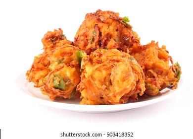 Indian spicy onion pkkoda or pakoras