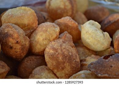 Indian Street Food. Close-up of Pani Puri or Golgappa at a market