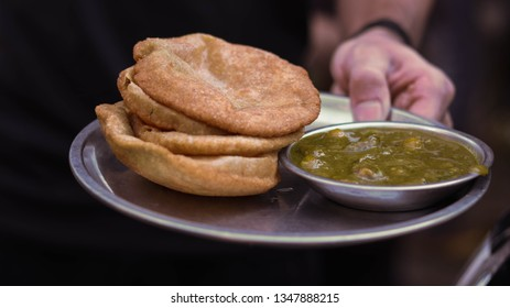 Indian Street Food/ Indian Cuisine - Cholle Poori