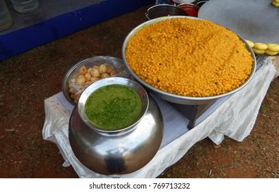 Indian street food pani puri