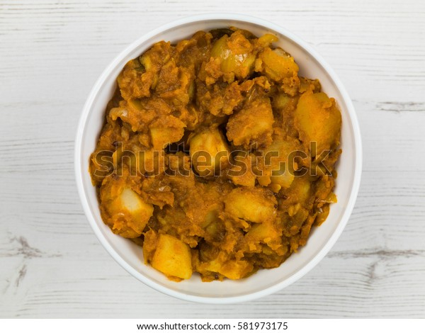 Indian Style Bombay Aloo Curry Starter Food