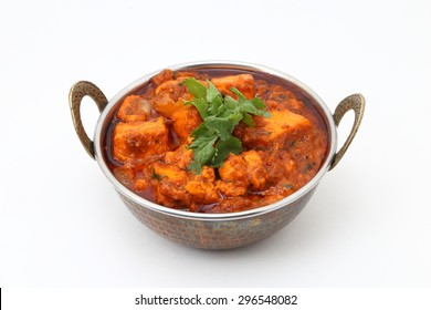 INDIAN STYLE COTTAGE CHEESE VEGETARIAN CURRY DISH. Kadai Paneer - traditional Indian food.