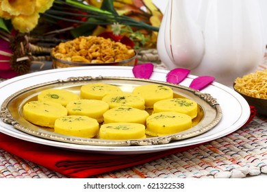 Indian Sweet Food Kesar Peda Also Know as Kesar Mawa Peda, Saffron Sweet, Saffron Peda is a saffron flavoured soft, dense sweet that is specially made during festivals
