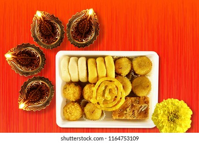 indian sweet for hindu religious concept background for ganesh puja  diwali new year or pongal greeting