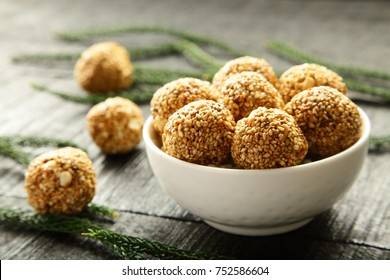 Indian Sweets background-cereal balls.