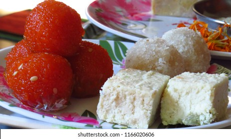 Indian Sweets Ladoo Kalakand