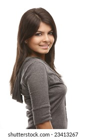 Indian teenage girl in happy expression