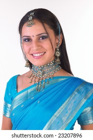 Indian teenage girl with nice rich necklace